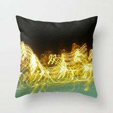 Galloping Neon Throw Pillow