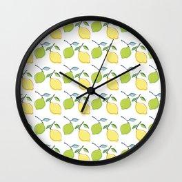 lemon and lime Wall Clock