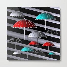 time for umbrellas Metal Print