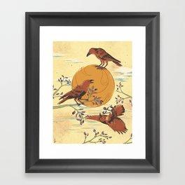 JINWU (three-legged crows) Framed Art Print