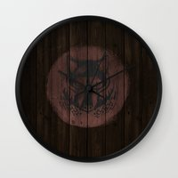 skyrim Wall Clocks featuring Shield's of Skyrim - Solitude by VineDesign