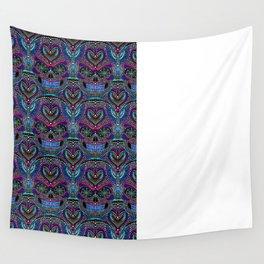 SUGAR SKULL BLUE Wall Tapestry