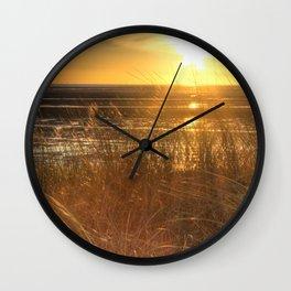 Beautiful Welsh Beach Sunset Wall Clock