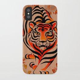 japanese tiger art iPhone Case