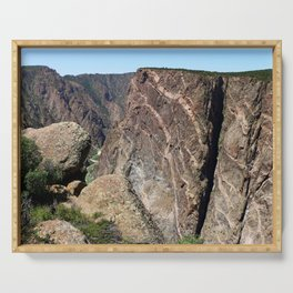 Painted Black Canyon of the Gunnison Walls Serving Tray
