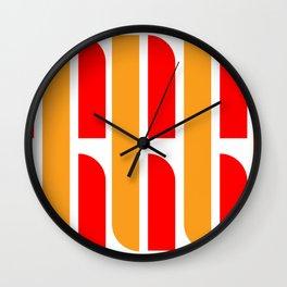 Bauhaus Font art: Joschmi & Xants Wall Clock