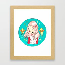 If I stay here, trouble will find me.  Framed Art Print