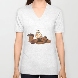 Chewbacca's Back Massage Unisex V-Neck