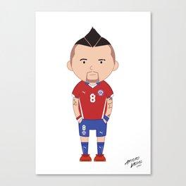 Arturo Vidal - Chile - World Cup 2014 Canvas Print