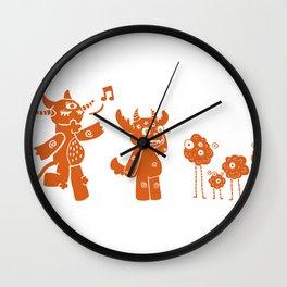 Orangies Wall Clock