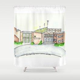 Saint Xavier High School, Louisville, KY. Watercolor Shower Curtain
