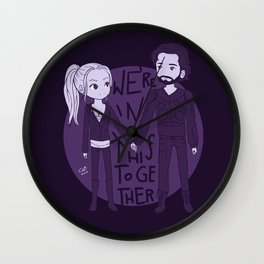 We're in this together Wall Clock