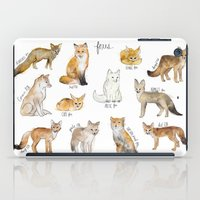 foxes iPad Cases featuring Foxes by Amy Hamilton