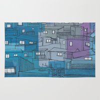 seoul Area & Throw Rugs featuring Seoul City #3 by Rob McClelland