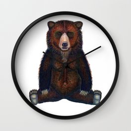 Blissed Out Bear Wall Clock