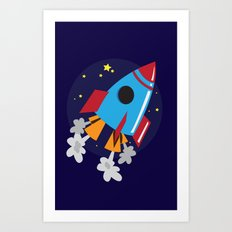 Space Cruiser Art Print