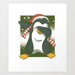 Penguin Dab Art Print