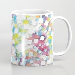 Colourful square box node art Coffee Mug