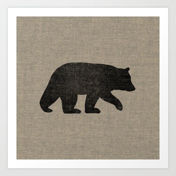 Black Bear Silhouette Kunstdrucke