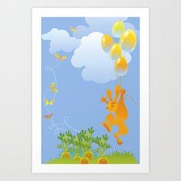 Bunny and Carrots Art Print