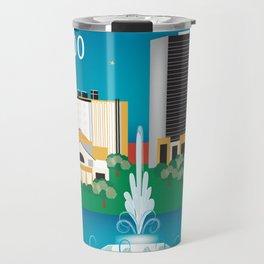 Orlando, Florida - Skyline Illustration by Loose Petals Travel Mug