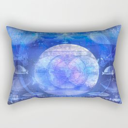 Dirigible Moon Rectangular Pillow
