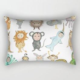 Watercolor Animal Alphabet (No Words) Rectangular Pillow