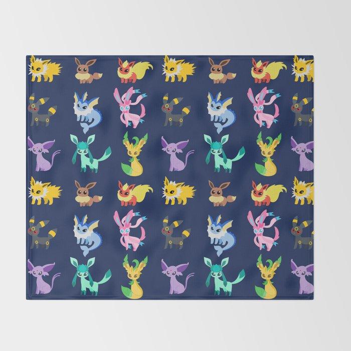 Eevee Evolutions Throw Blanket