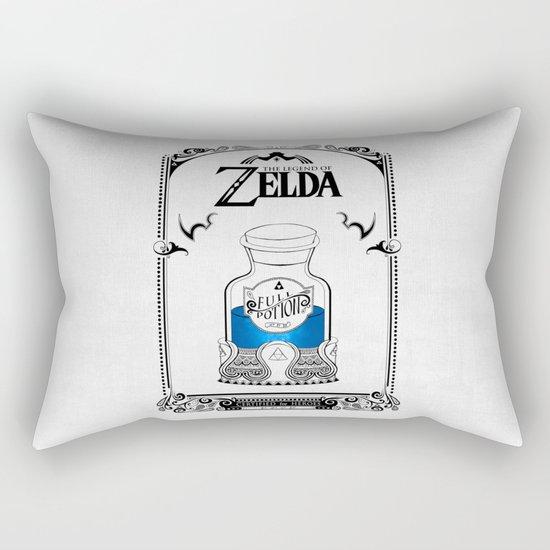 Zelda legend - Blue potion  Rectangular Pillow