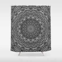 Zen Black and white mandala Sophisticated ornament Shower Curtain