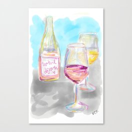 Wine Down Canvas Print