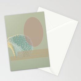 Geo-Florals Green Stationery Cards