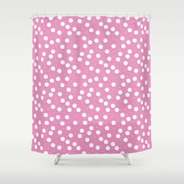 Pink hygiene - cotton pads and swabs Shower Curtain