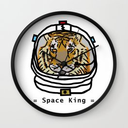 Space King Tiger Portrait Wall Clock