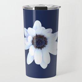 Sleepy African Daisy Flower Travel Mug