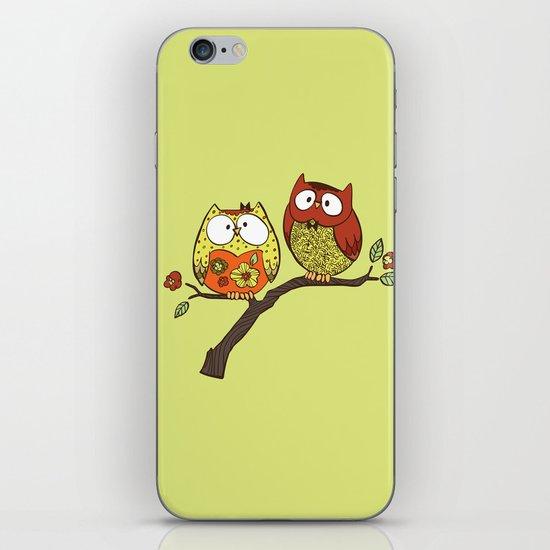 Decorative Owls iPhone & iPod Skin