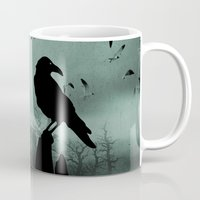 raven Mugs featuring Raven by Tony Vazquez