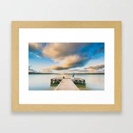 Peaceful Evening Framed Art Print