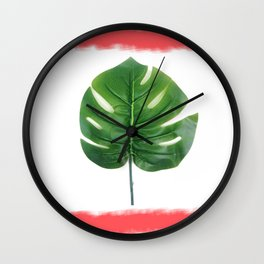 Watercolor Palm Wall Clock