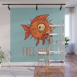 Free Hugs Cartoon Blowfish Wall Mural