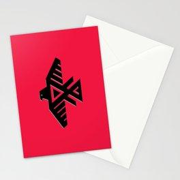 Thunderbird, Emblem of the Anishinaabe people - Black on Red Stationery Cards