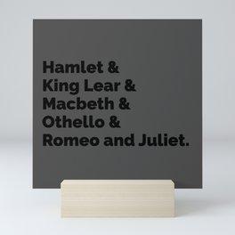Shakespeare Plays II Mini Art Print