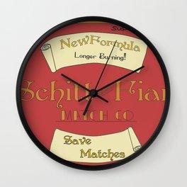 Schitt Fiar Vintage Sign Wall Clock