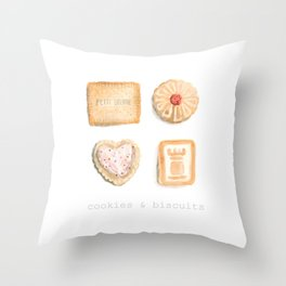Cookies & Biscuits  Throw Pillow