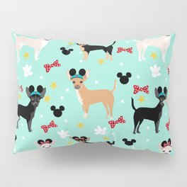 Chihuahua theme park lover dog breed pattern gifts Pillow Sham