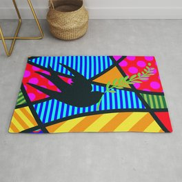 Lucky Swallow SQuare Rug
