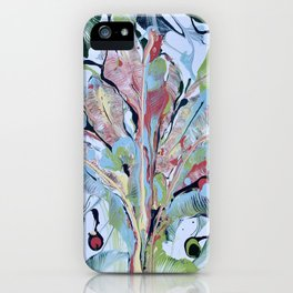 We Flourish: A Tropical Banana Leaf Plant Painting  iPhone Case