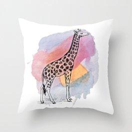 Judgemental Giraffe Throw Pillow