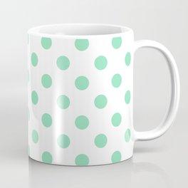Polka Dots (Mint & White Pattern) Coffee Mug