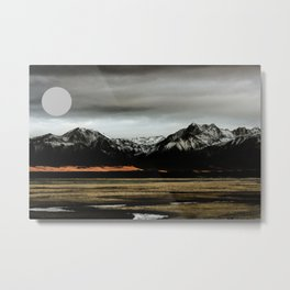 Abstract Andean Landscape Metal Print